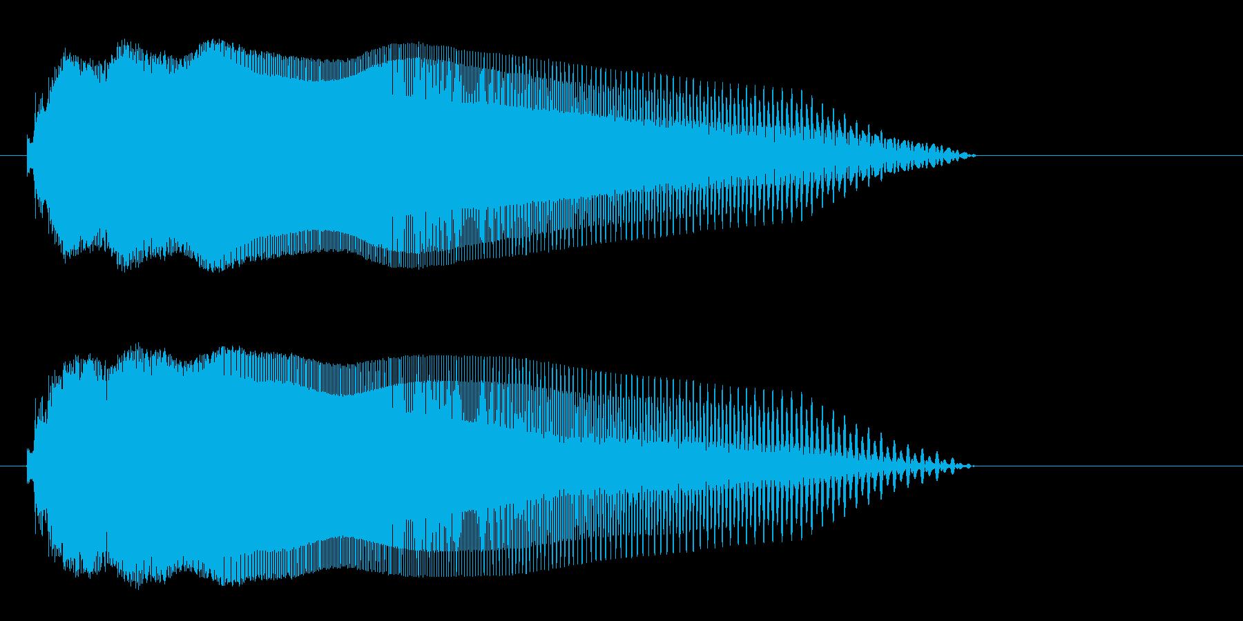 チューン(機械的な転換音)の再生済みの波形