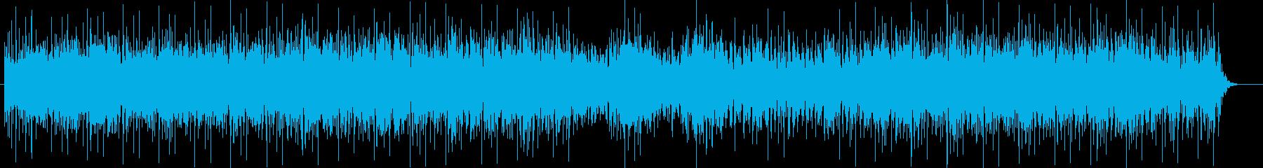 ワクワク感と宇宙感のシンセテクノの再生済みの波形