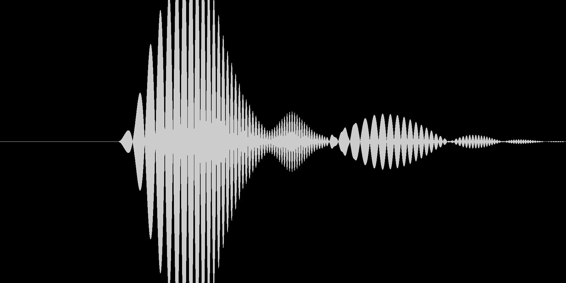 「ポワっ」というポップな効果音その2の未再生の波形