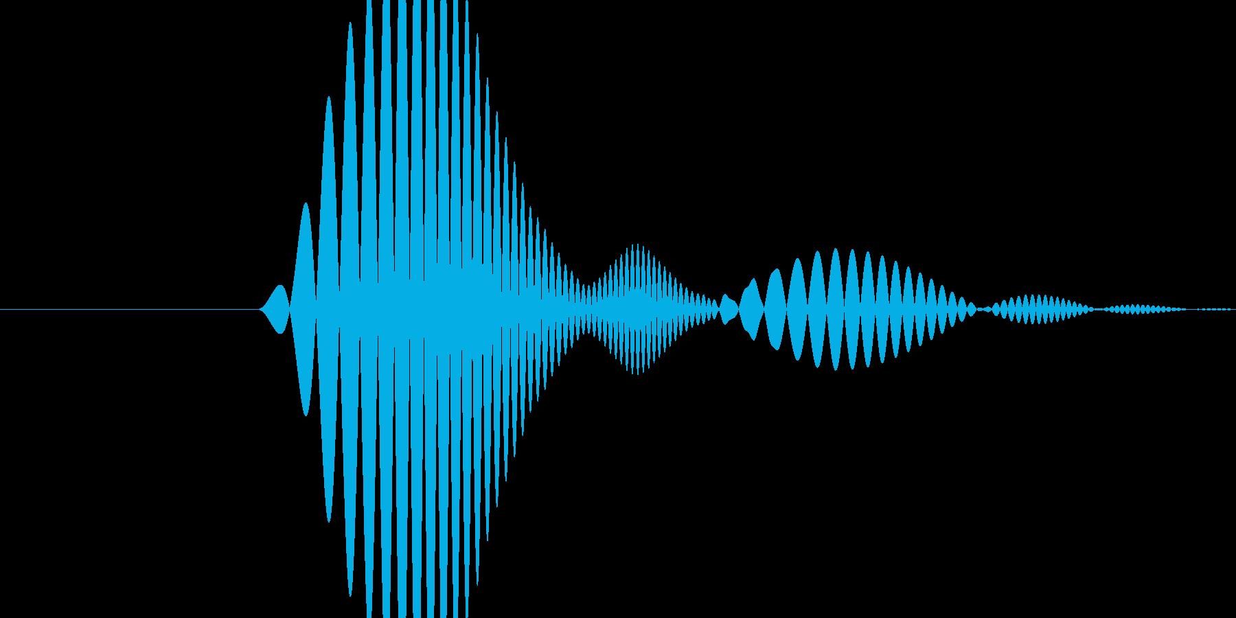 「ポワっ」というポップな効果音その2の再生済みの波形