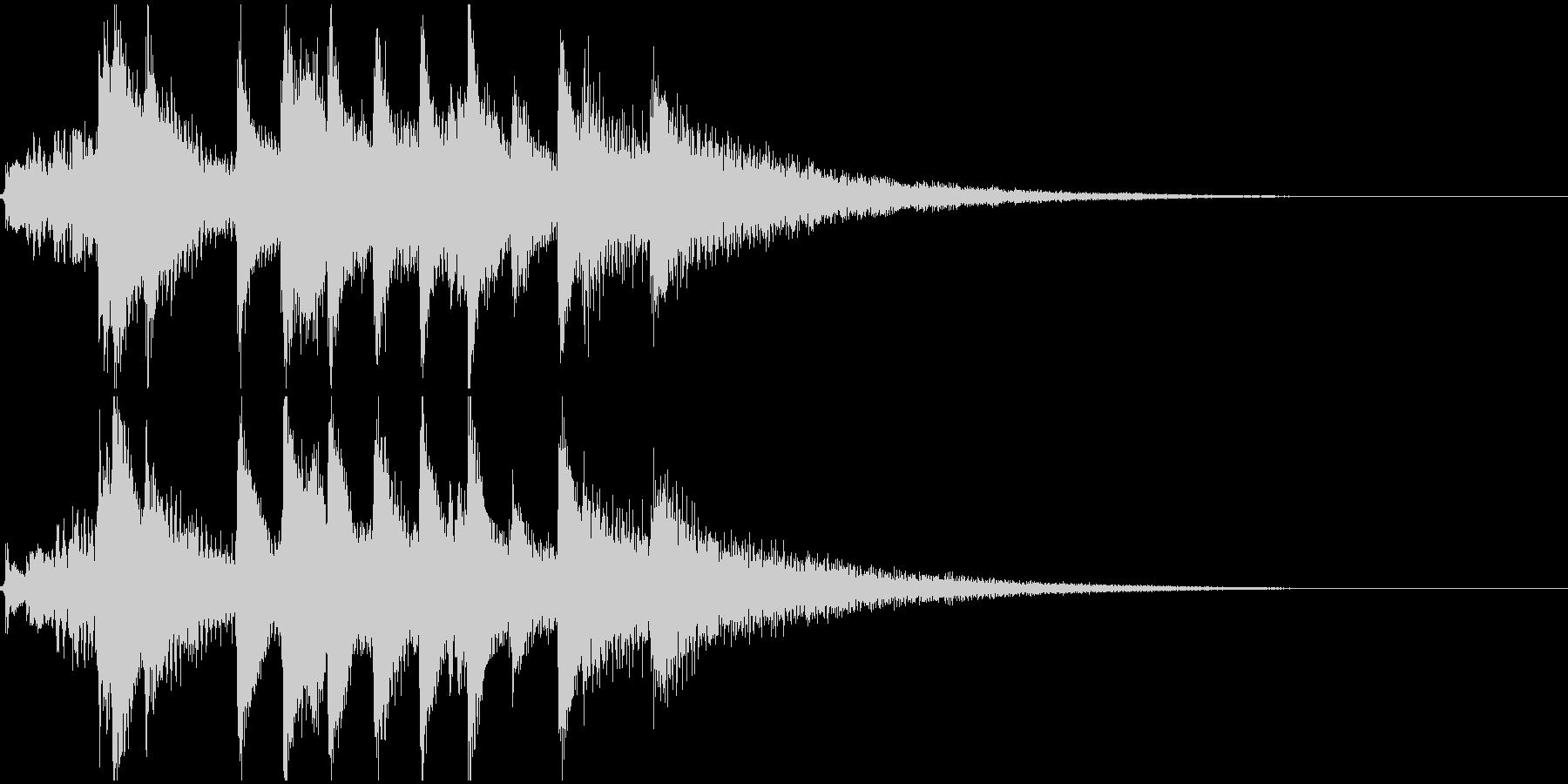琴の和風ジングル2の未再生の波形