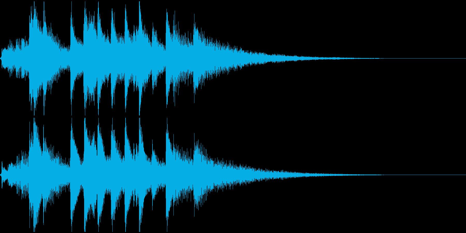 琴の和風ジングル2の再生済みの波形