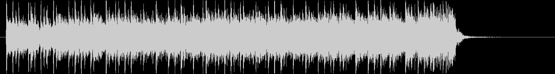 激しいドラムとシンセベースのロックBGMの未再生の波形