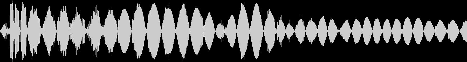 ドス(決定 カーソル移動 コミカル殴り)の未再生の波形