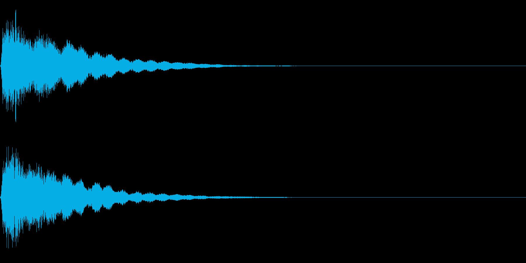 光『きゅぴーん』の再生済みの波形