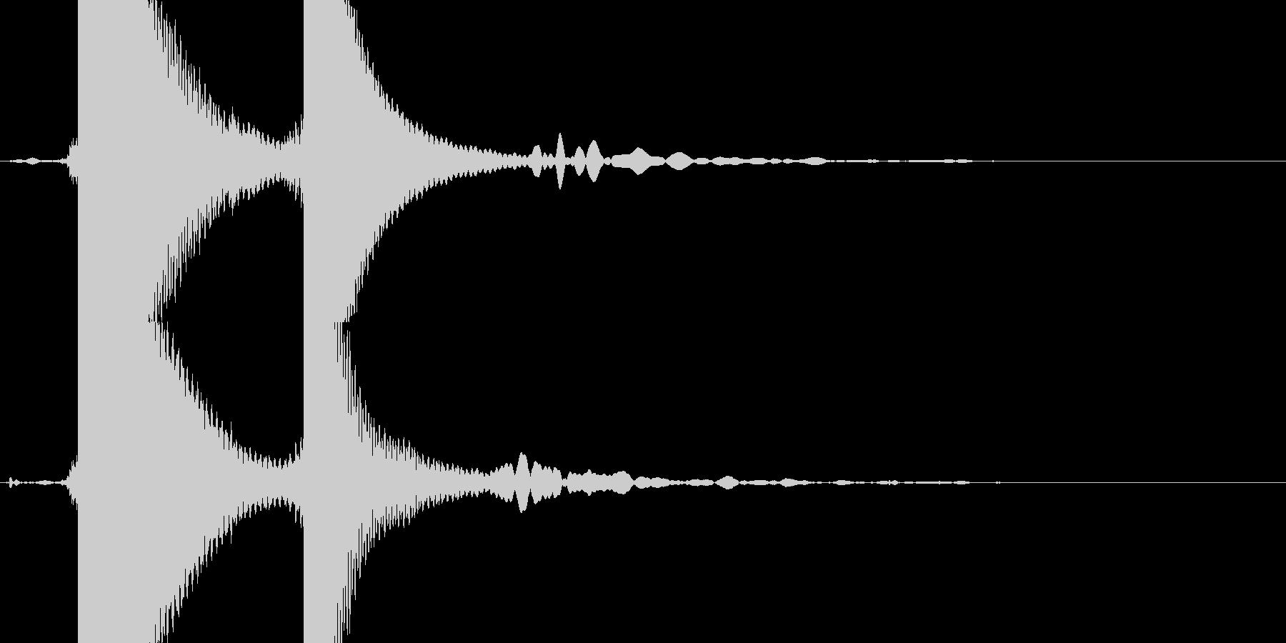 自転車のベルの未再生の波形