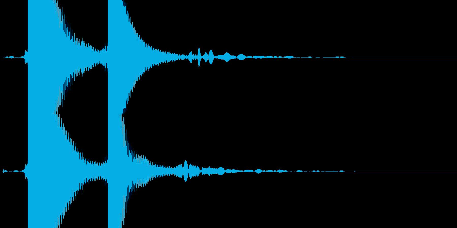 自転車のベルの再生済みの波形