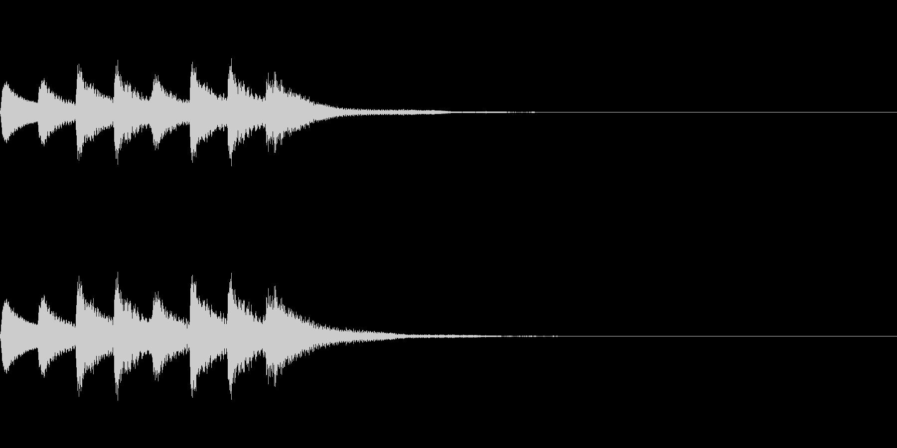 高音のシールめくり音の未再生の波形