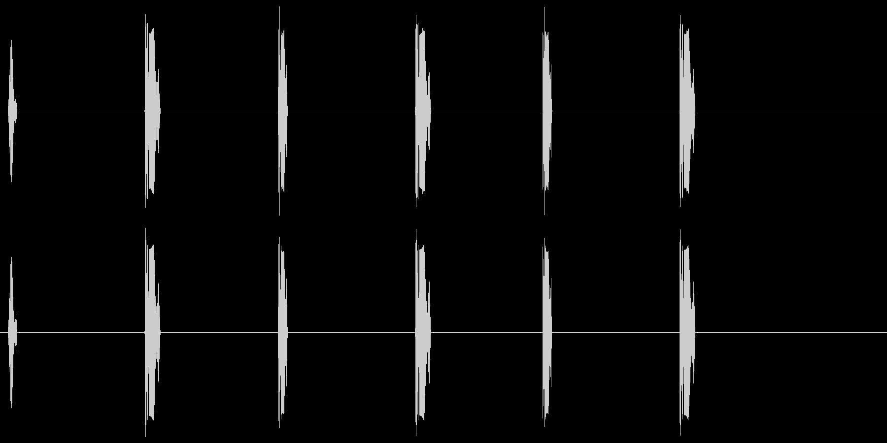 よちよちあるきの効果音の未再生の波形