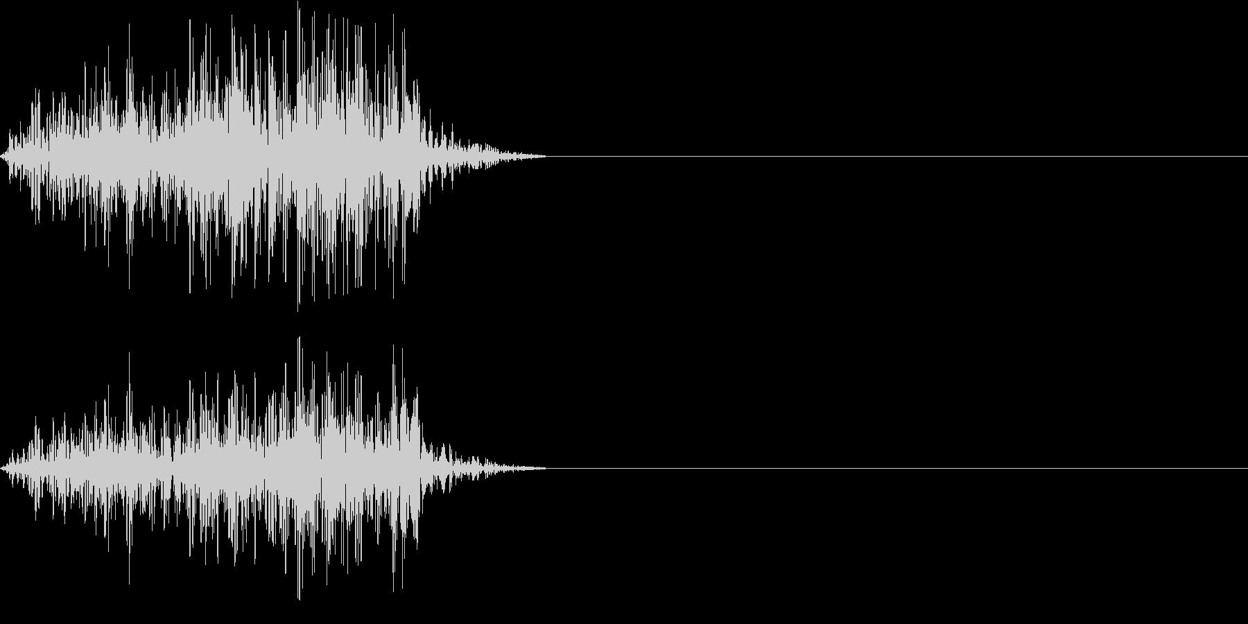 アフリカライオンの鳴き声(威嚇する)の未再生の波形