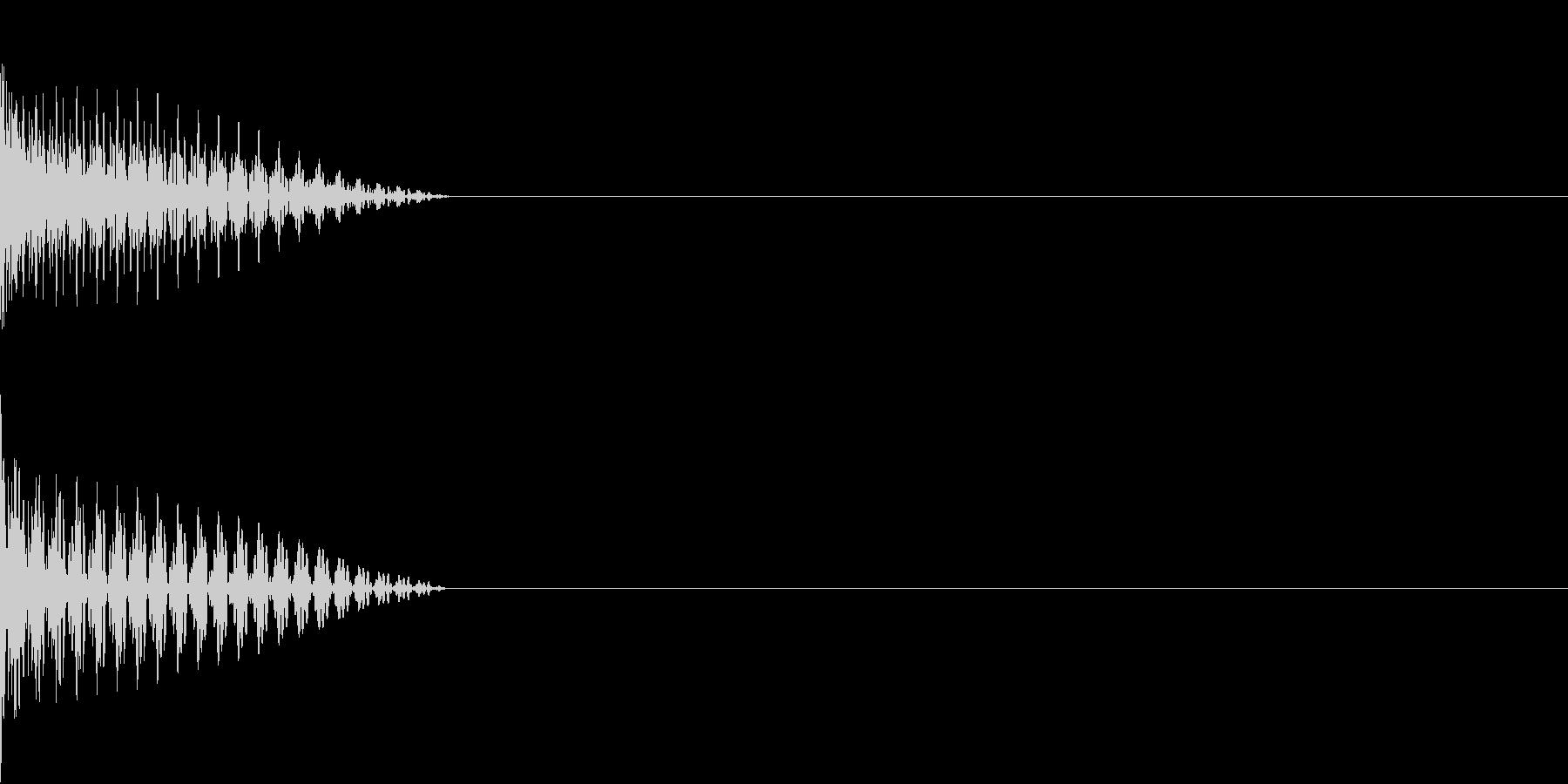 Cursor セレクト・カーソルの音8の未再生の波形