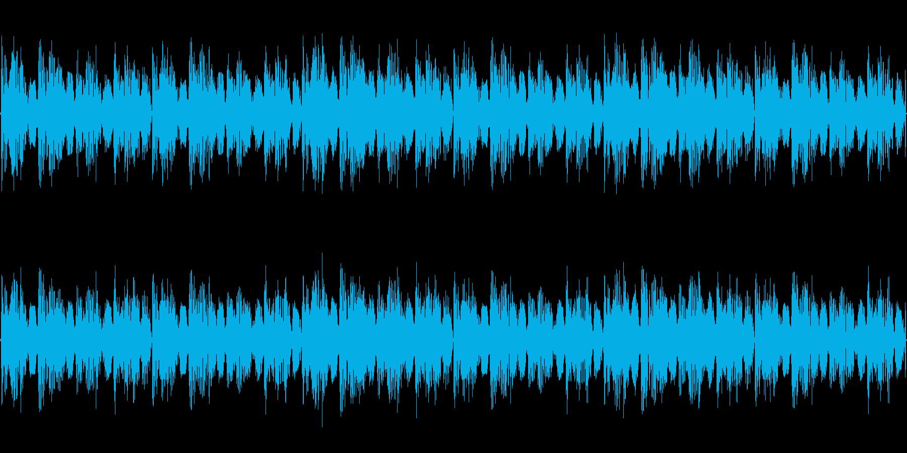 映像BGMの再生済みの波形