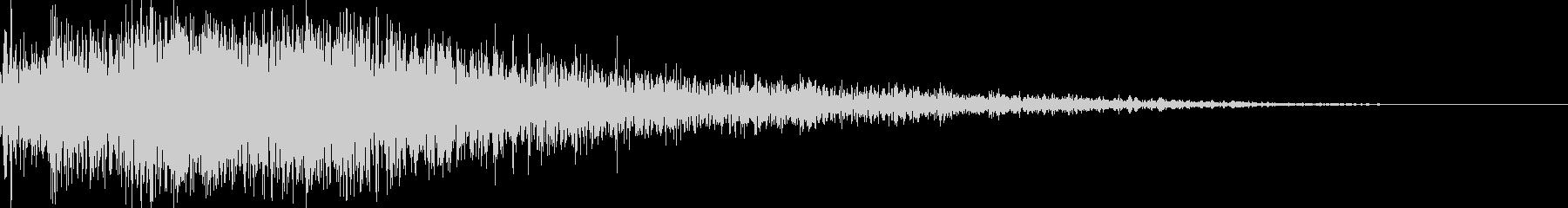 ロボット足音 タイプ11の未再生の波形