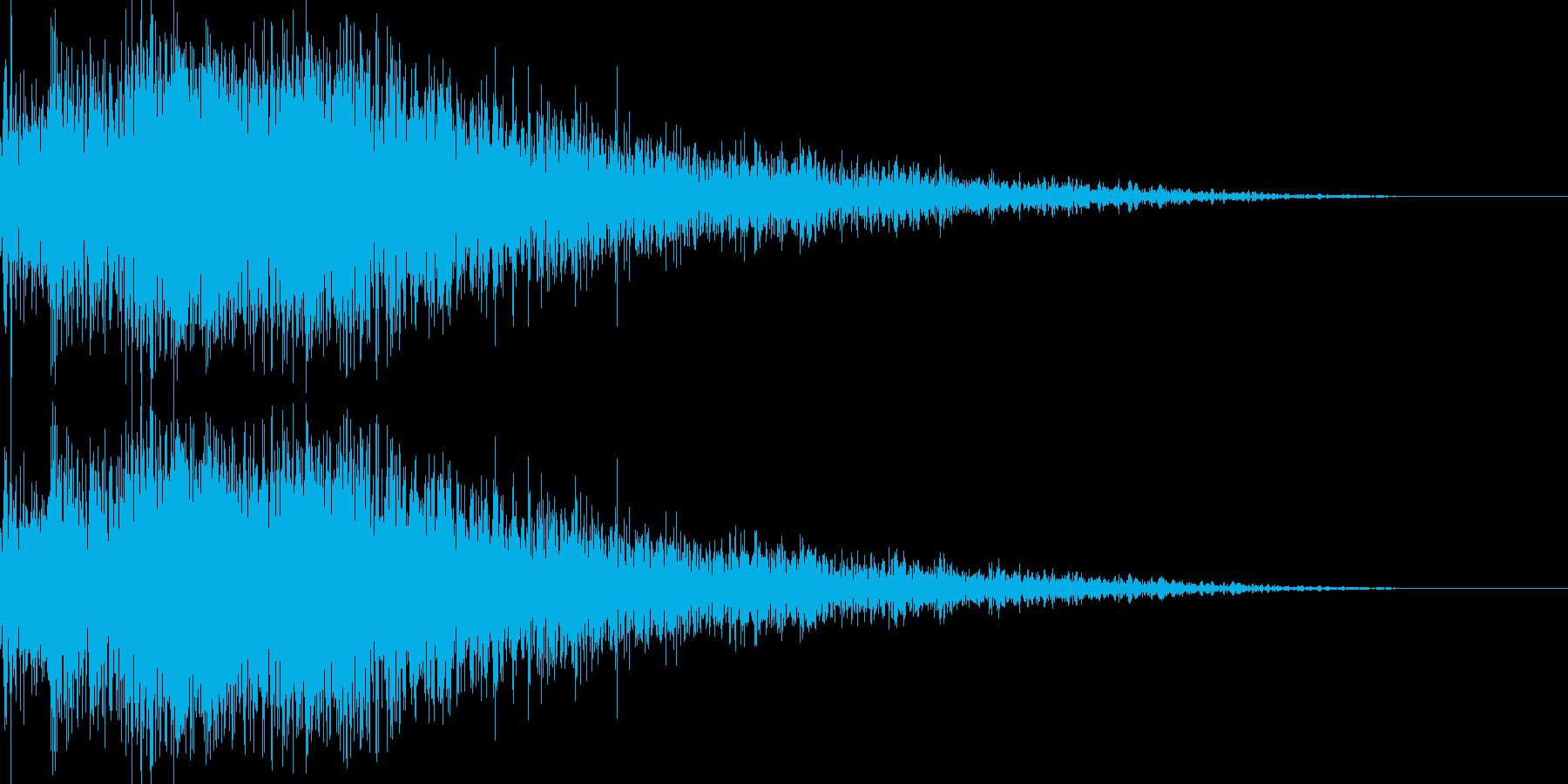 ロボット足音 タイプ11の再生済みの波形
