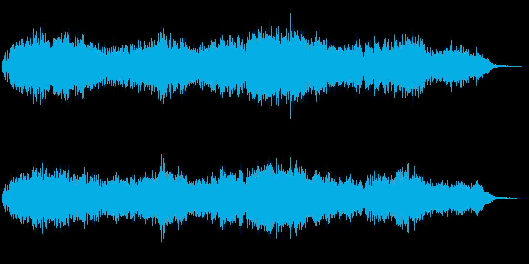 フルートとキラキラシンセの優しいジングルの再生済みの波形