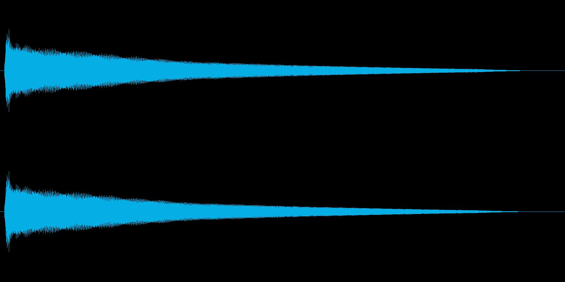 キレがあり伸びやかな効果音の再生済みの波形