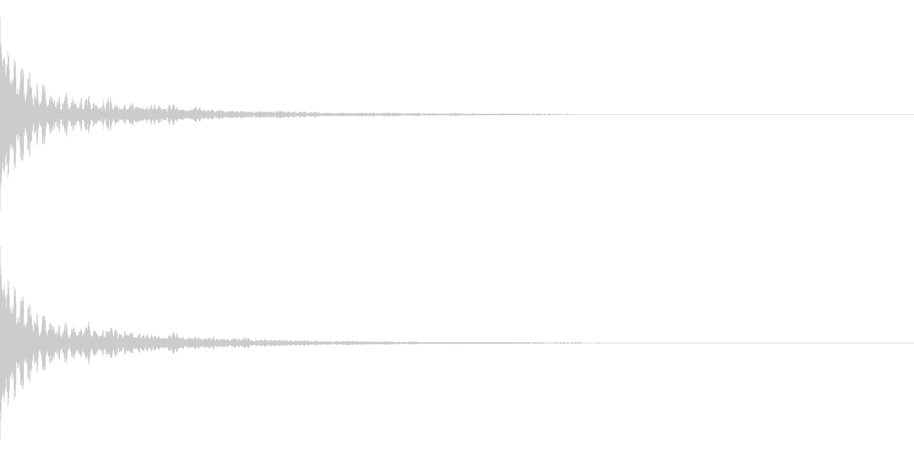 ホラー系アタック音28の未再生の波形
