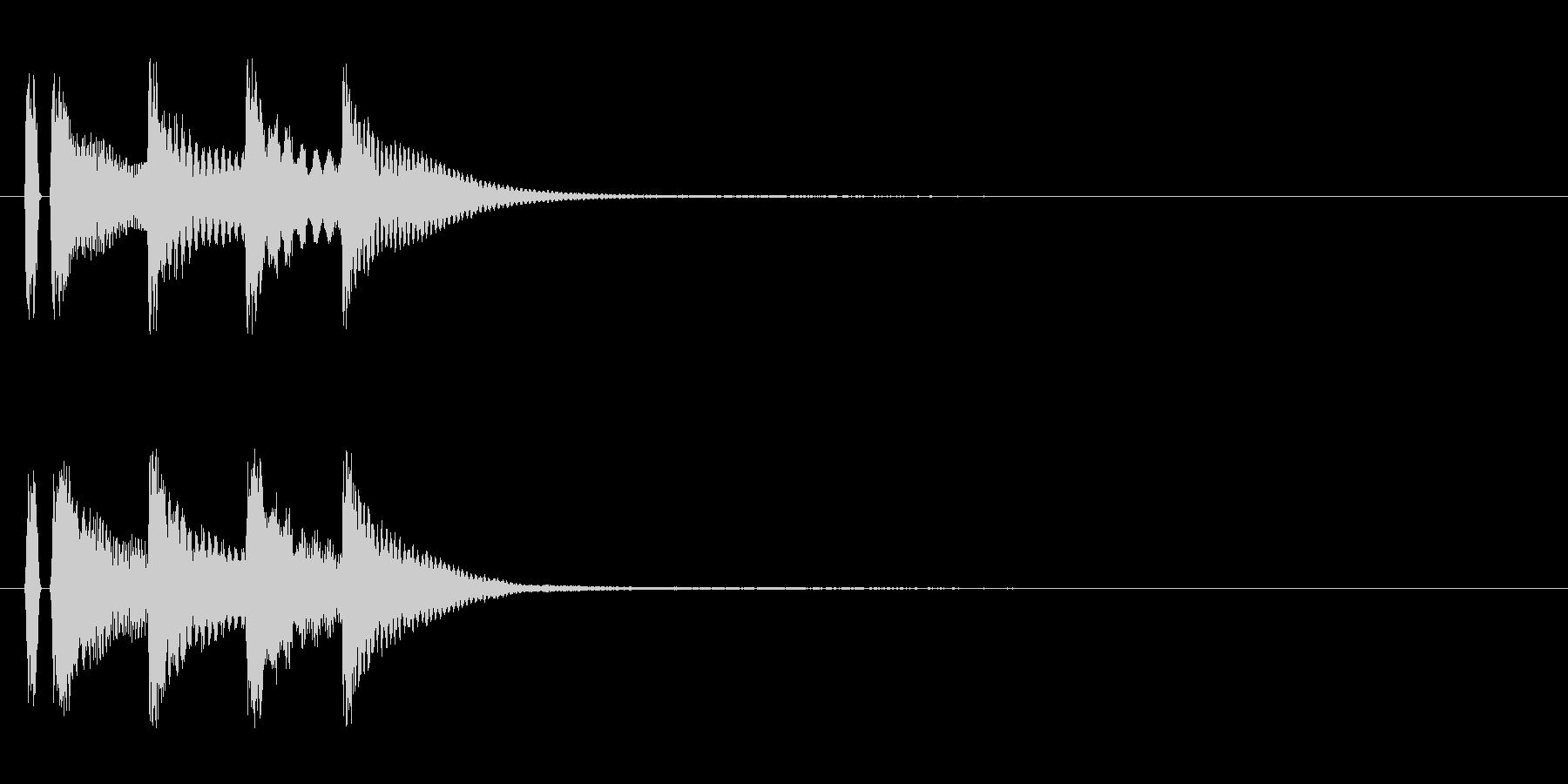 マリンバ。決定音。タタタタンの未再生の波形
