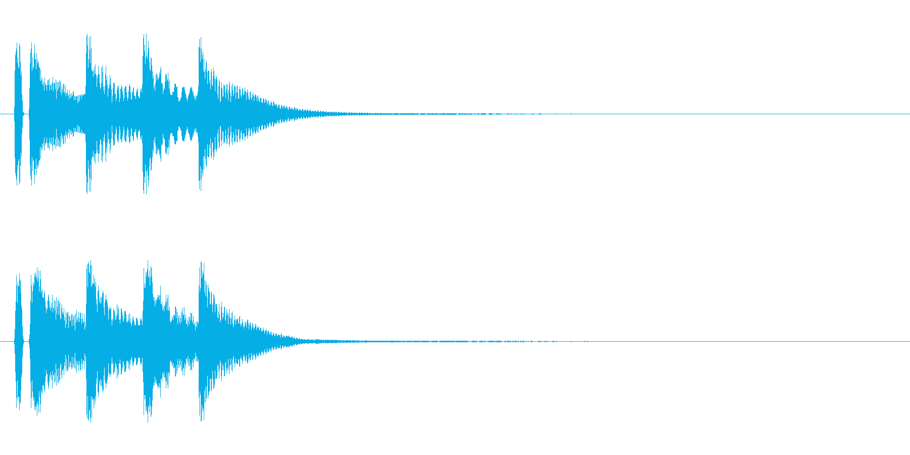 マリンバ。決定音。タタタタンの再生済みの波形