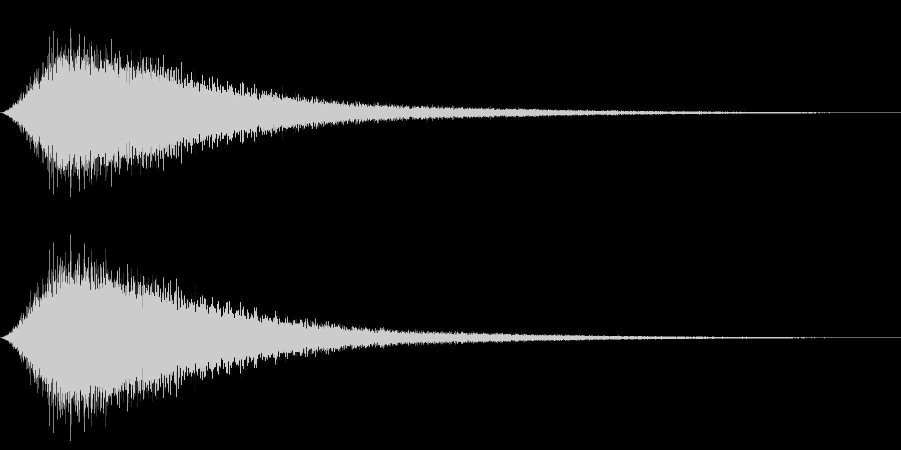 NAMIOTO 波の音 ワンショット音源の未再生の波形