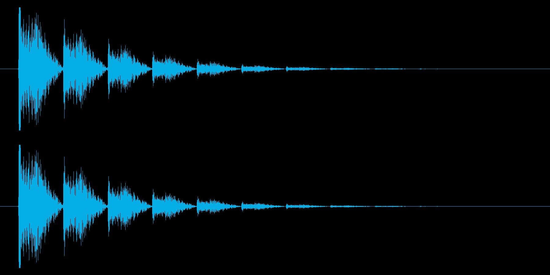 打撃09-6の再生済みの波形