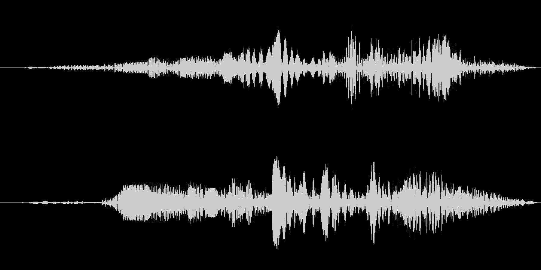 ロボットの動作音(グイーン)の未再生の波形