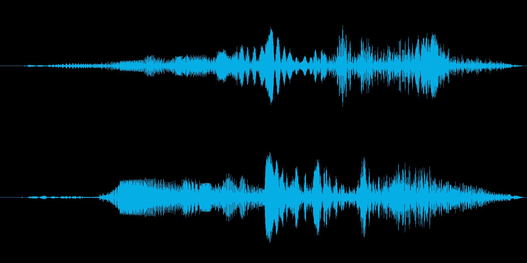 ロボットの動作音(グイーン)の再生済みの波形