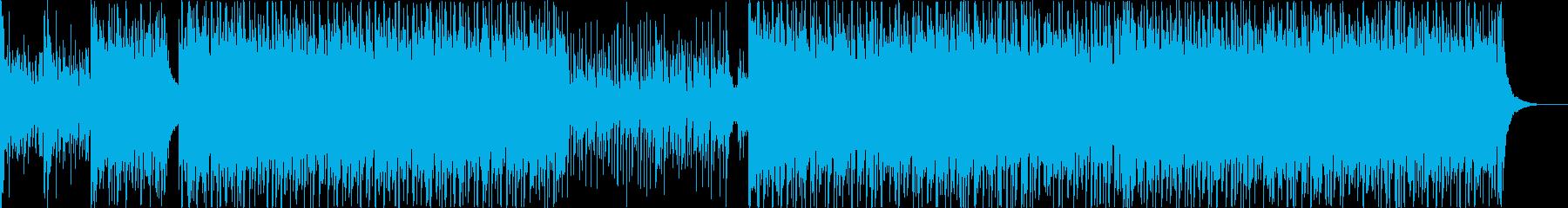 和太鼓と和楽器の祭り風アンサンブルの再生済みの波形