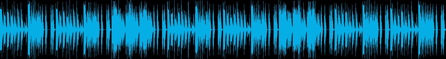 ゆったりピコピコBGMの再生済みの波形