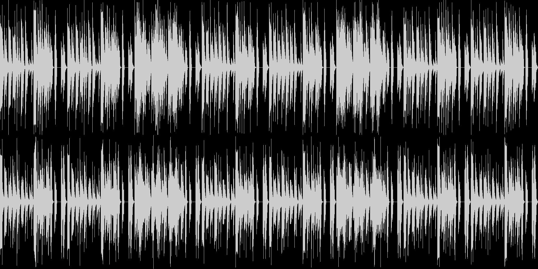 ゆったりピコピコBGMの未再生の波形