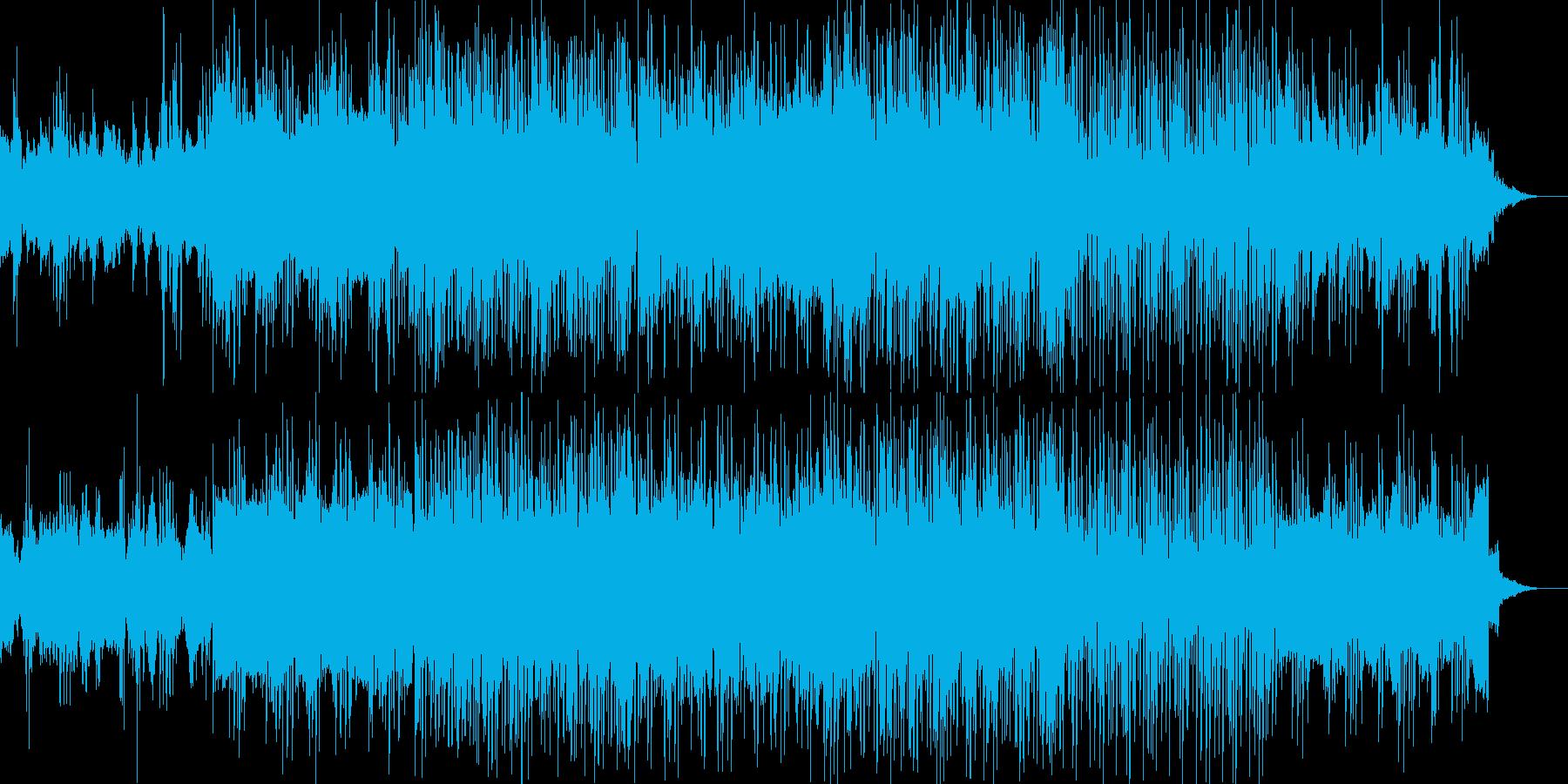 無国籍風の映画BGMのような曲の再生済みの波形