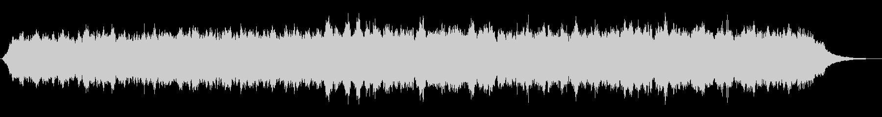 キラキラなシンセパッドの神秘的なジングルの未再生の波形