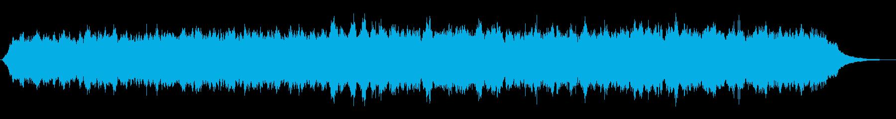 キラキラなシンセパッドの神秘的なジングルの再生済みの波形