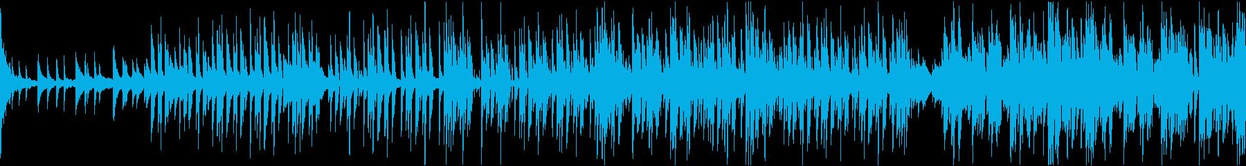 幻想的な電子音(フューチャーベース)の再生済みの波形