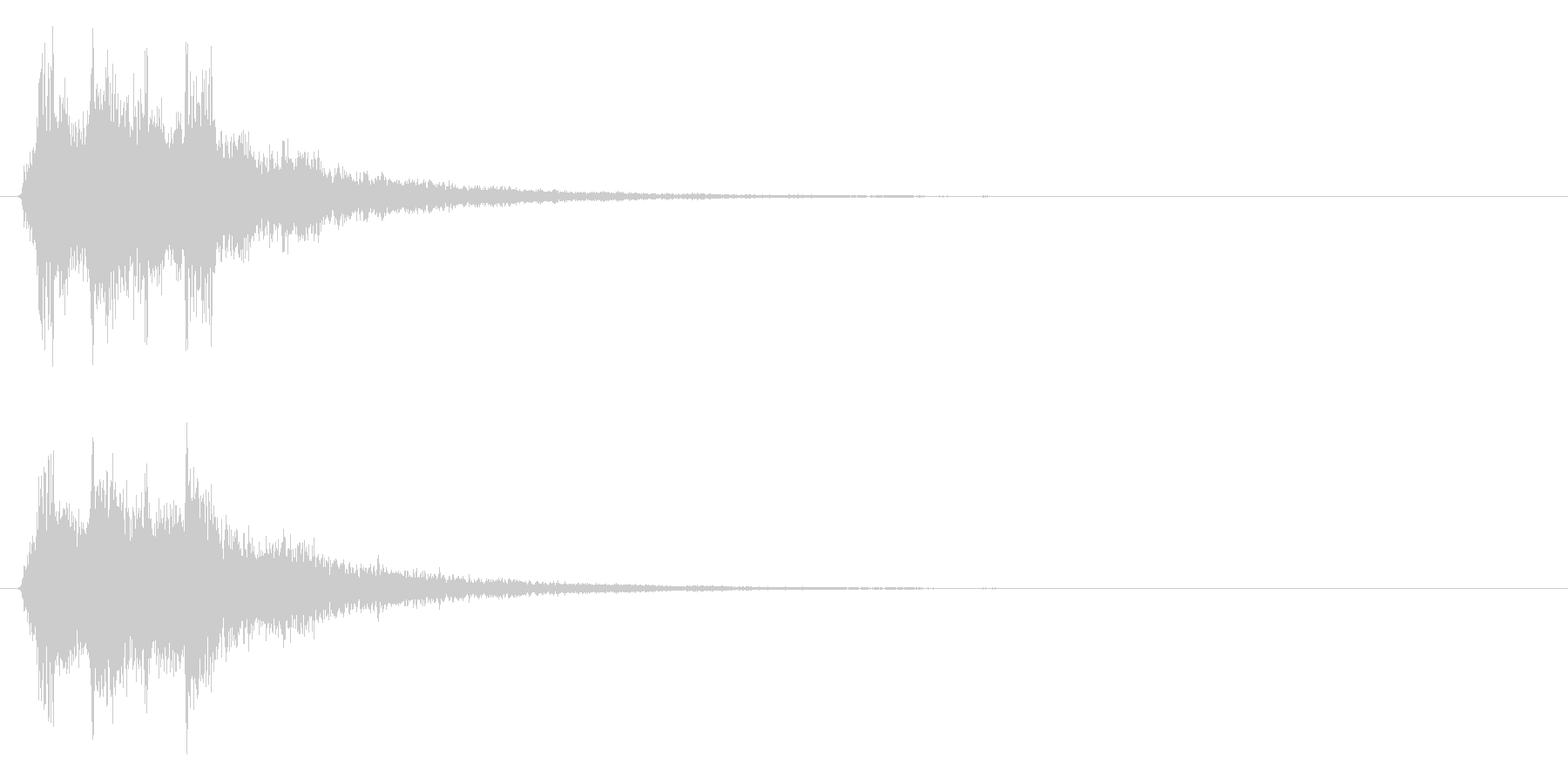 シャーン(鈴、決定、ピッチ高め)の未再生の波形