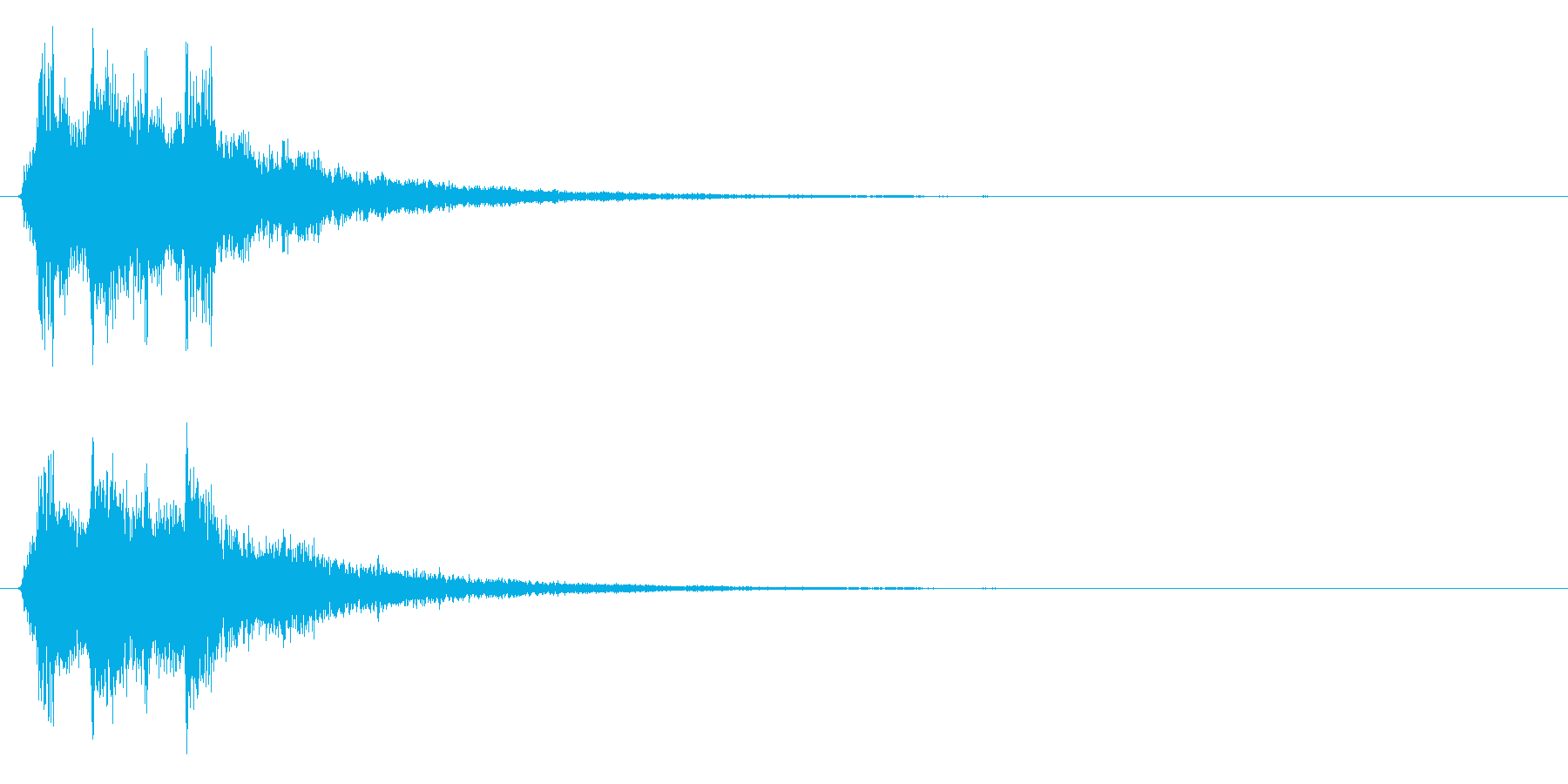 シャーン(鈴、決定、ピッチ高め)の再生済みの波形