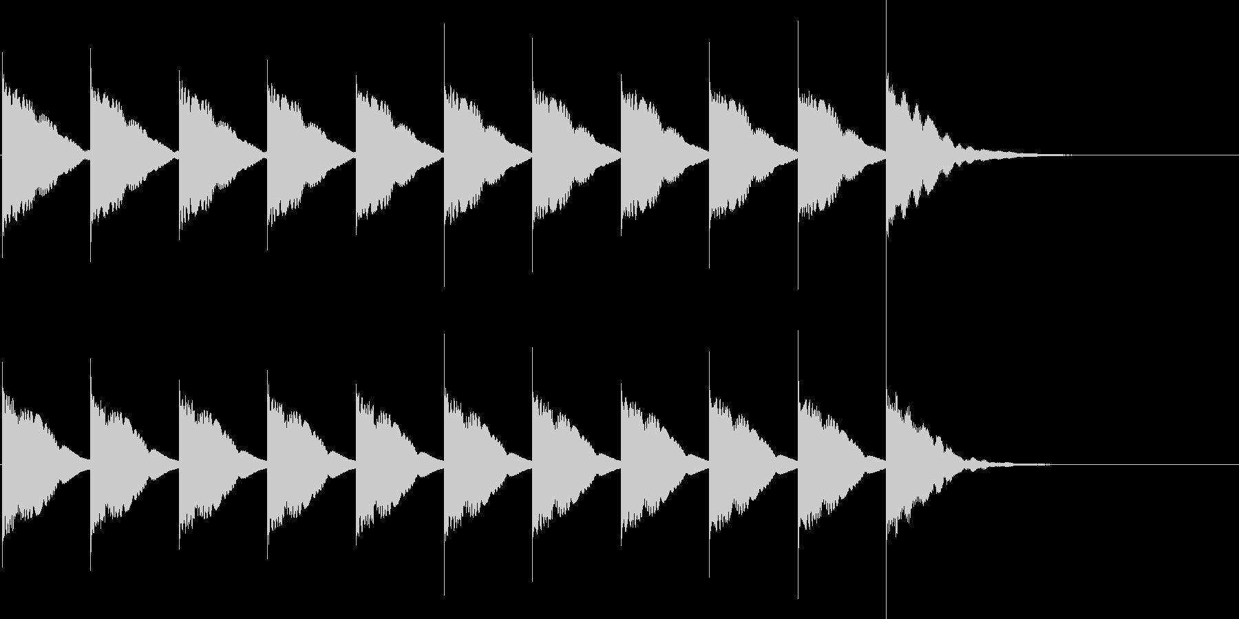 カウントダウンB3(10秒前)の未再生の波形