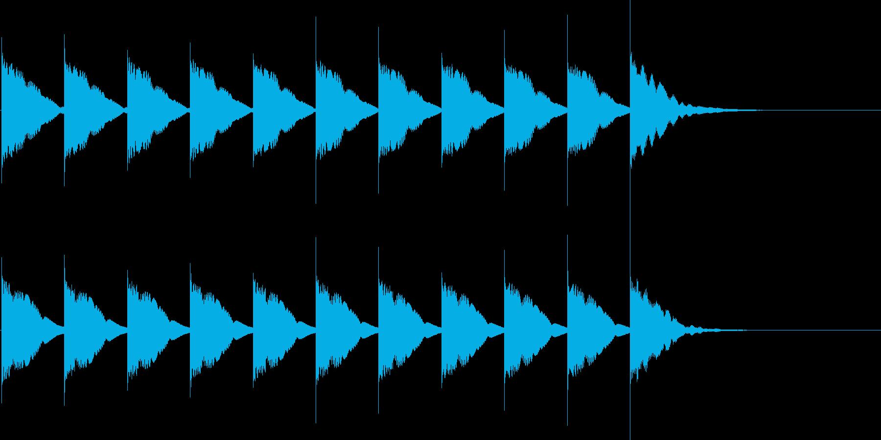 カウントダウンB3(10秒前)の再生済みの波形