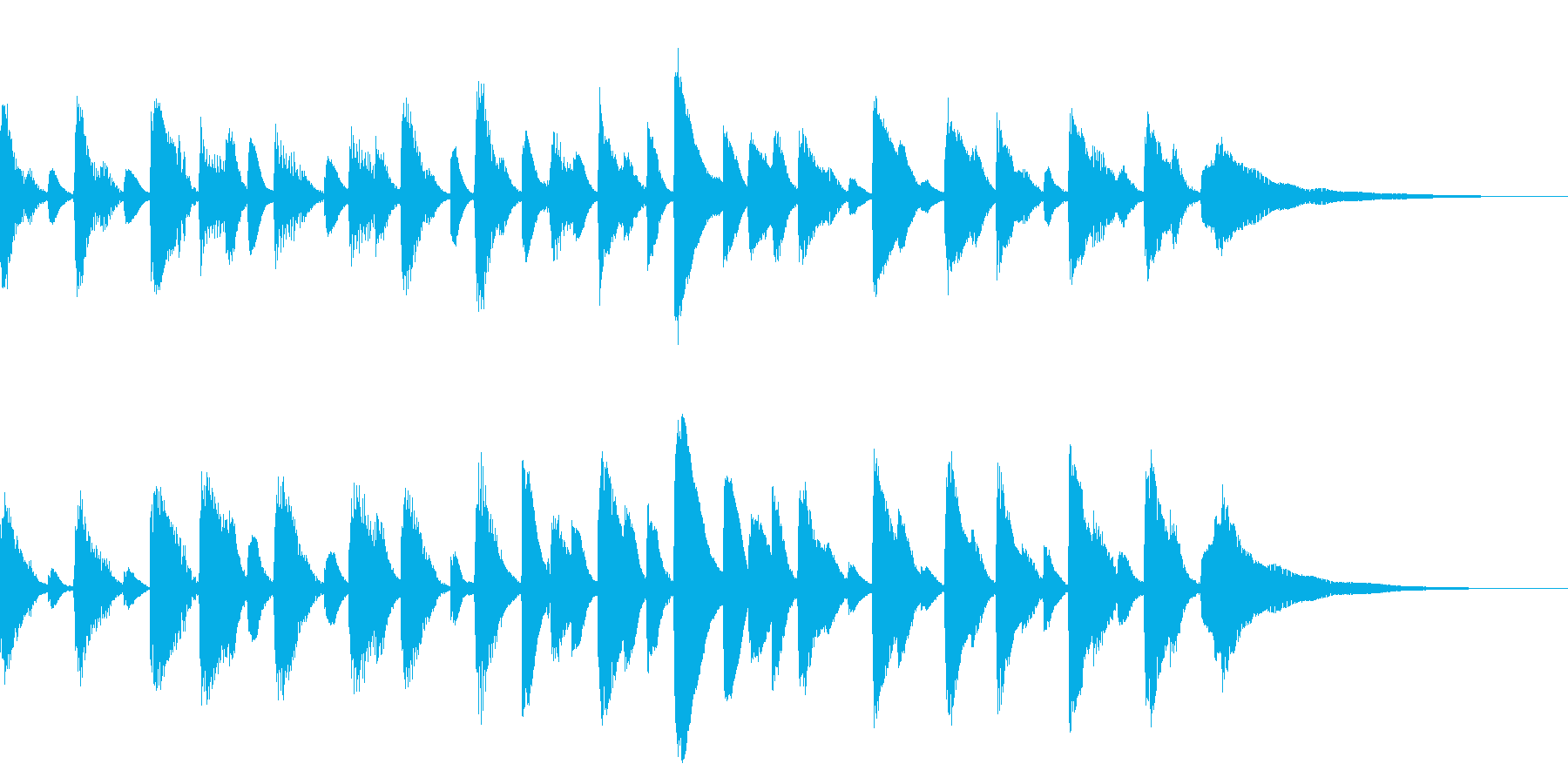 ピアノが奏でるバラードの再生済みの波形
