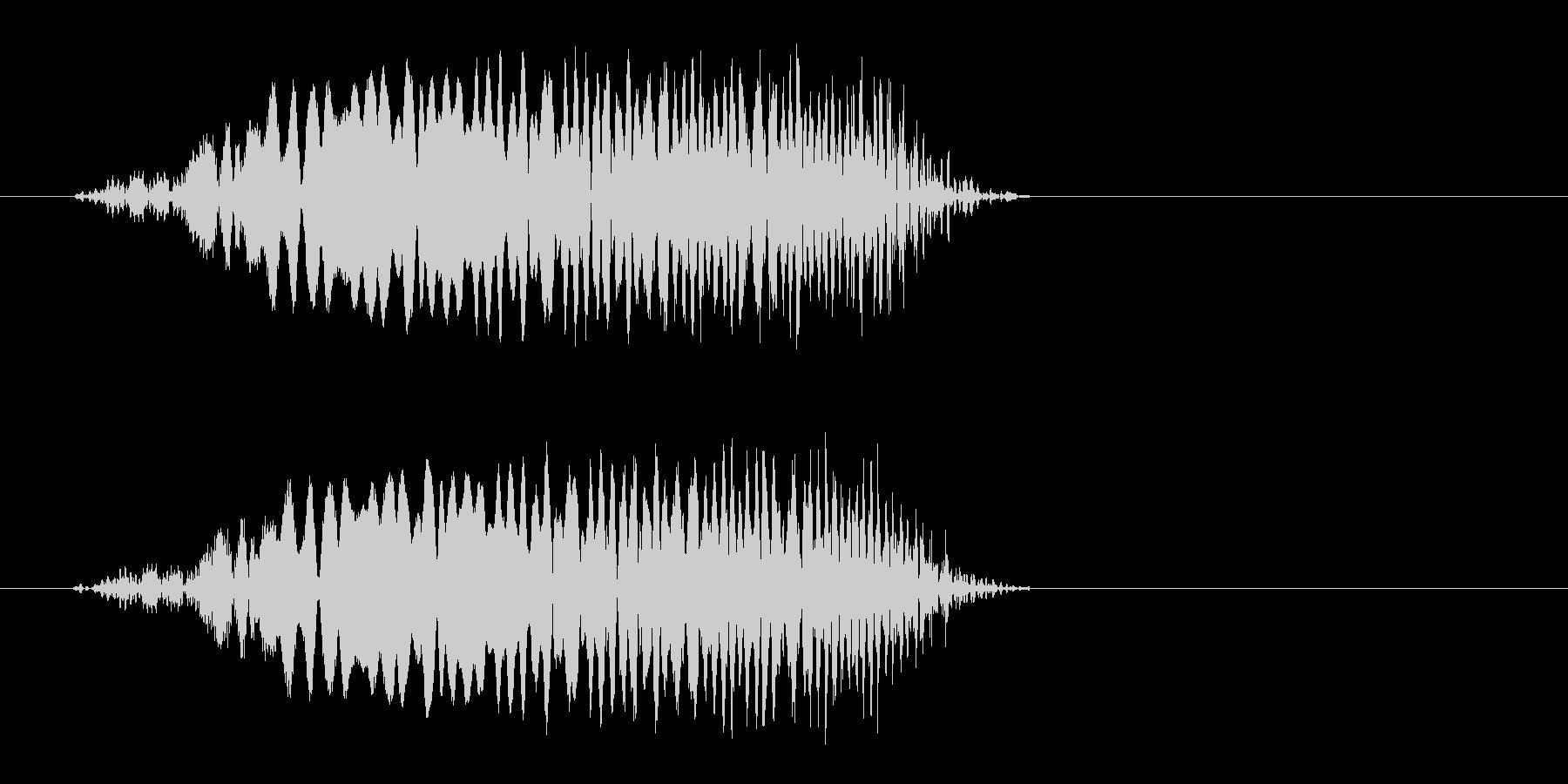 ピュンッ!短めの風切り効果音の未再生の波形