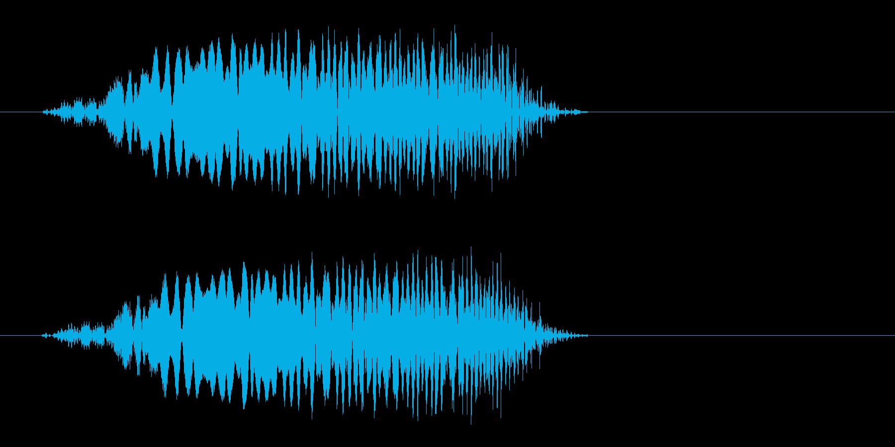 ピュンッ!短めの風切り効果音の再生済みの波形
