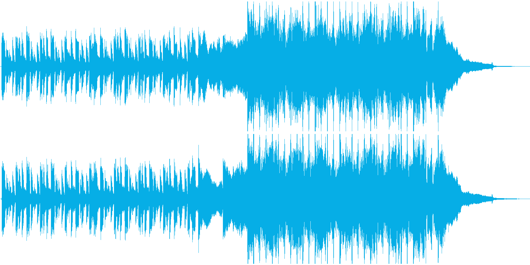 洋楽風のアコギBGM_shortの再生済みの波形