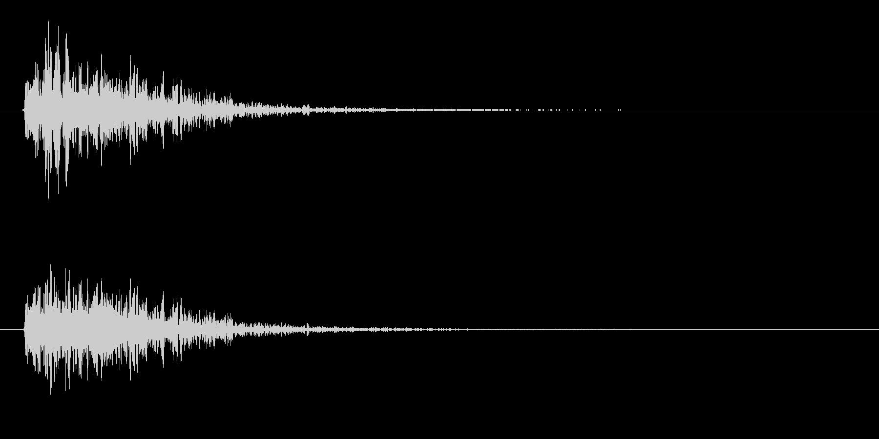 「ビコーン(弓矢の音)」の未再生の波形