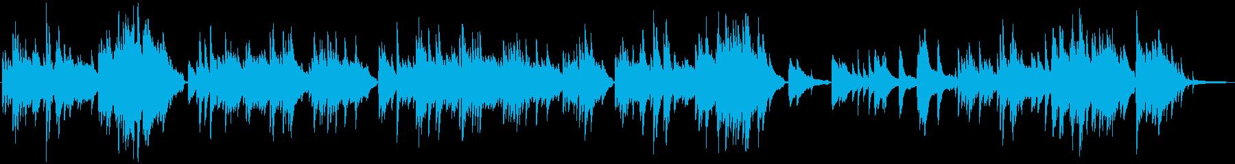 透明感のある切ないピアノの再生済みの波形