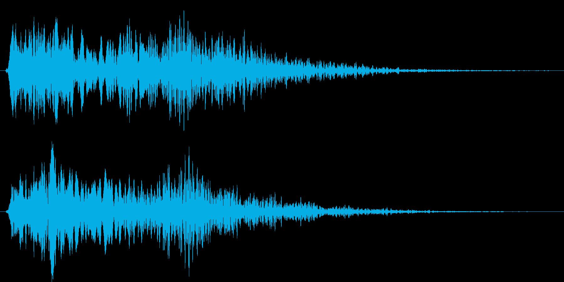 キュキュイーン。プテラノドン的なの再生済みの波形