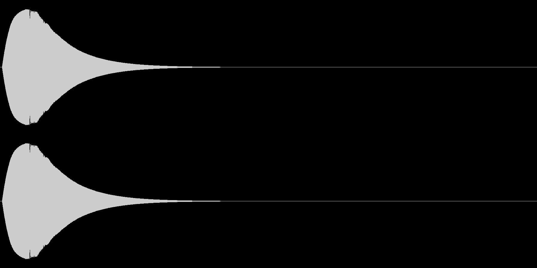 ポロン(電子音)の未再生の波形