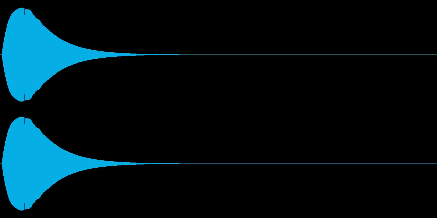 ポロン(電子音)の再生済みの波形