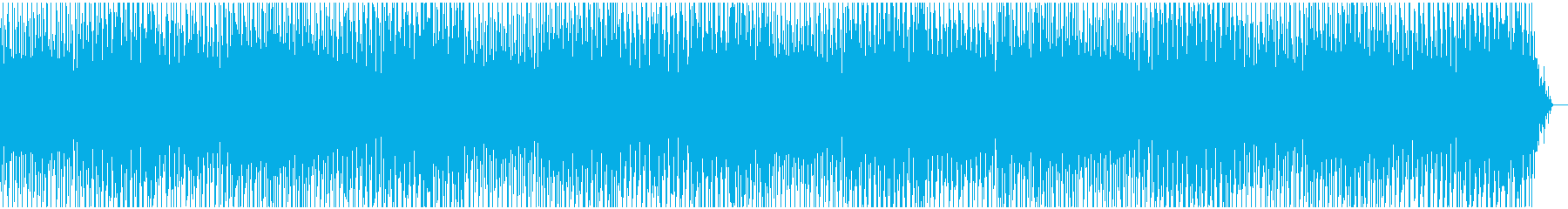 コミカルで楽しくなるメロディーの再生済みの波形