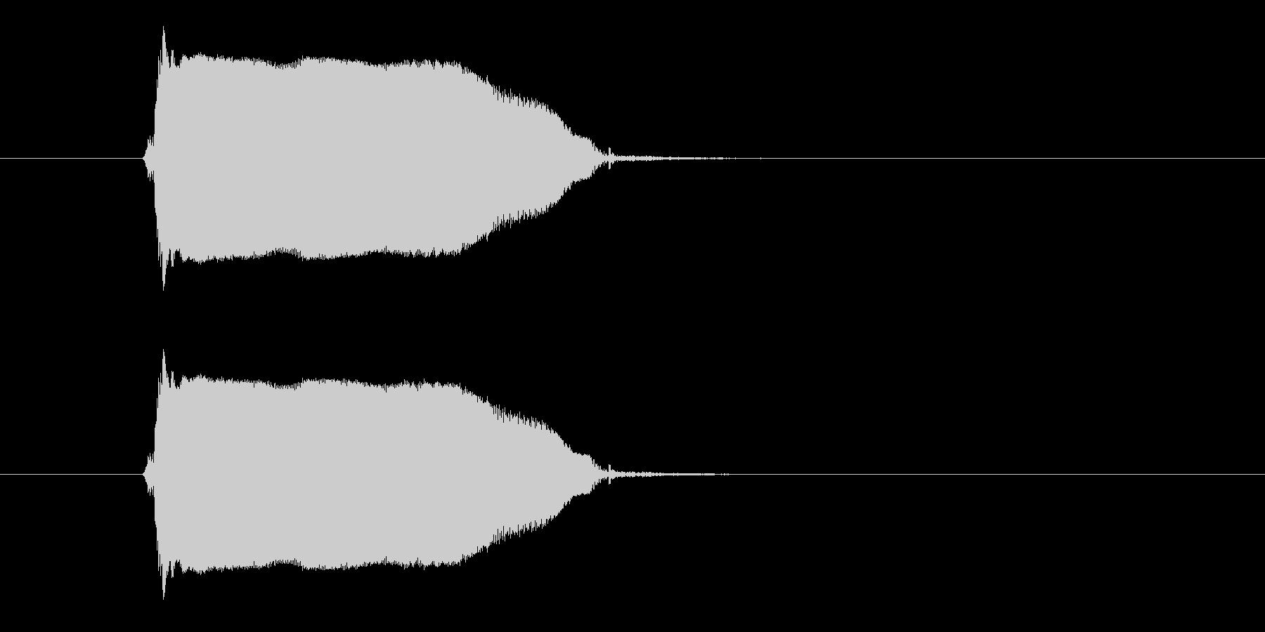 ギュゥゥ~ン(決定音、ギター)の未再生の波形