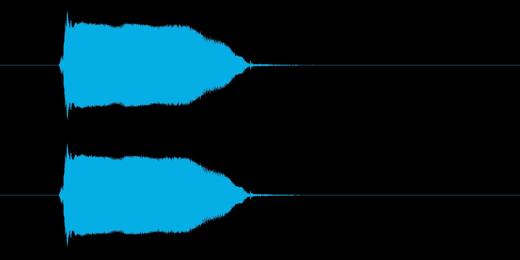 ギュゥゥ~ン(決定音、ギター)の再生済みの波形